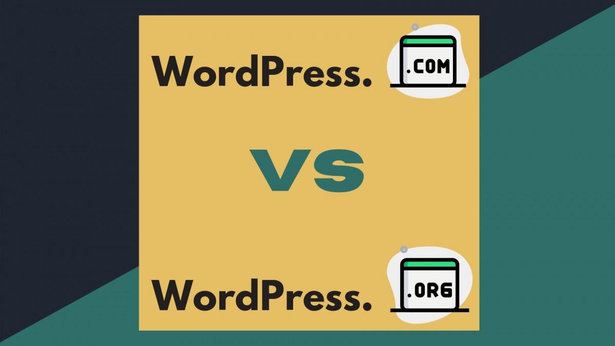 wordpress.com vs wordpress.org - וורדפרס