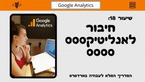 שיר ויצמן, איך להטמיע גוגל אנליטיקס באתר